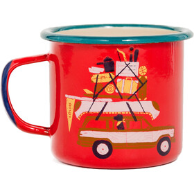 United By Blue Places You'll Go Enamel Steel Mug 355ml Red